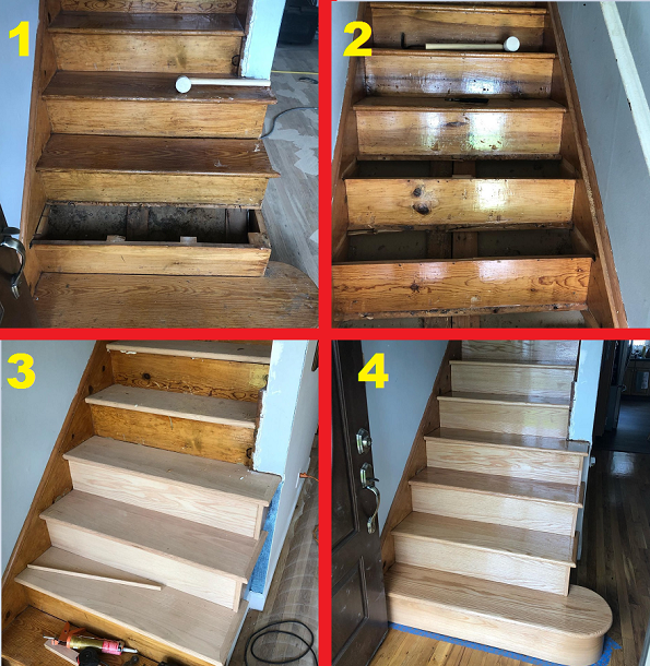 Long Island Floor Sanding Steps Repair And Replacement Finishing